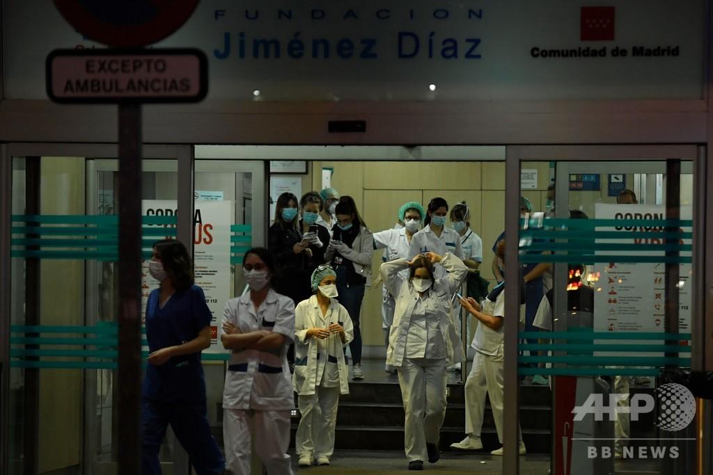 スペインの死者、4000人突破 増加率は減少 新型コロナ