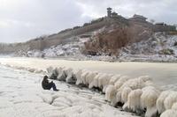 数十年ぶりの大寒波襲来、震える中国