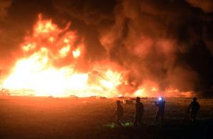 メキシコの石油パイプライン火災、死者73人に