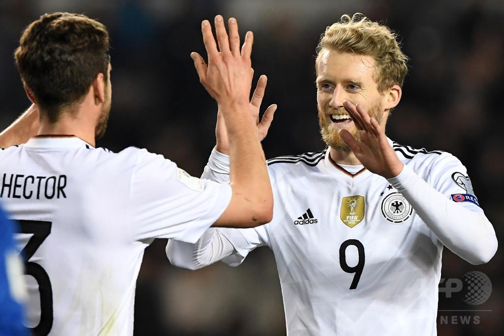 ドイツ、シュールレの2得点でW杯欧州予選5連勝