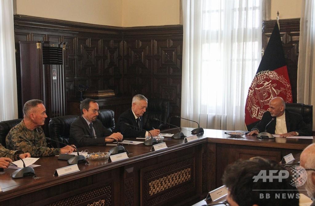 マティス米国防長官、事前の予定公表なくアフガン訪問
