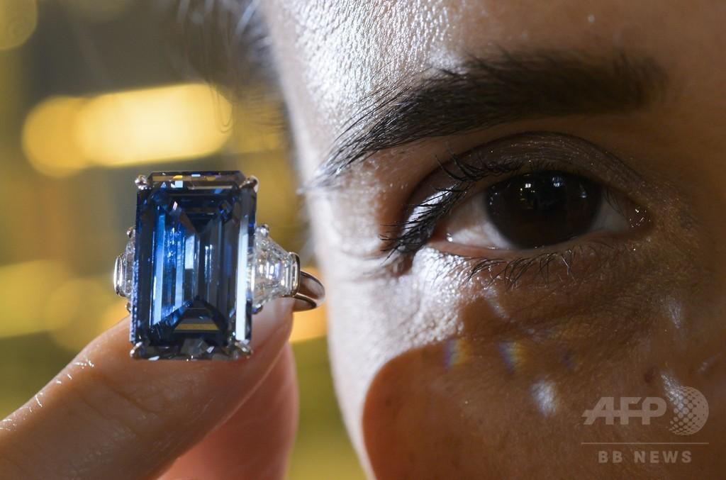 「オッペンハイマー・ブルー」ダイヤ、史上最高の63億円で落札