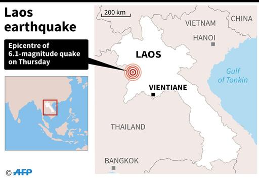 ラオス・タイ国境でM6.1地震、法王滞在中のバンコクでも揺れ