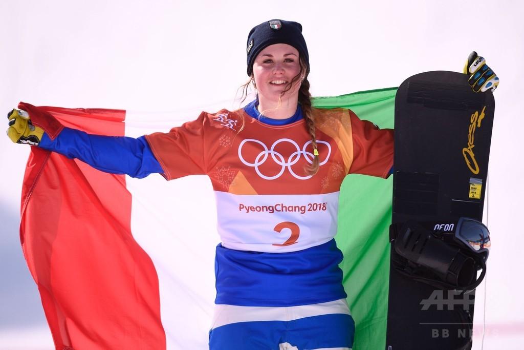 イタリアのモイオーリが金メダル、女子スノーボードクロス