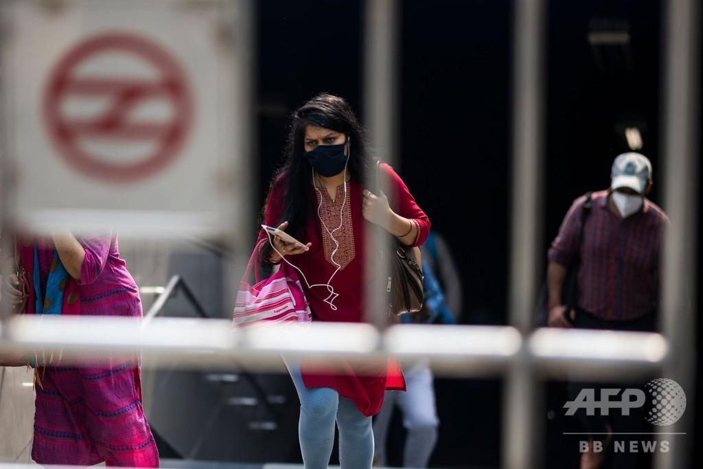インド、新型コロナ感染者数500万人超える