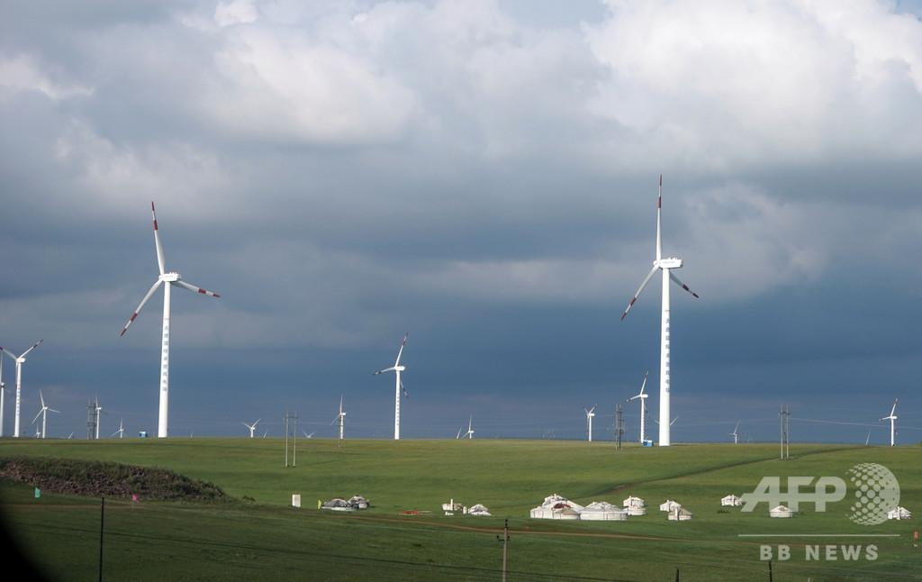 世界最大の陸上の風力発電プロジェクト、内モンゴルで始動