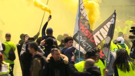 動画:フランスの「黄ベスト」デモ、26週目も実行 参加者数は最低水準に