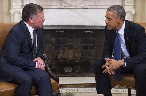 訪米中のヨルダン国王、急きょ米大統領と会談