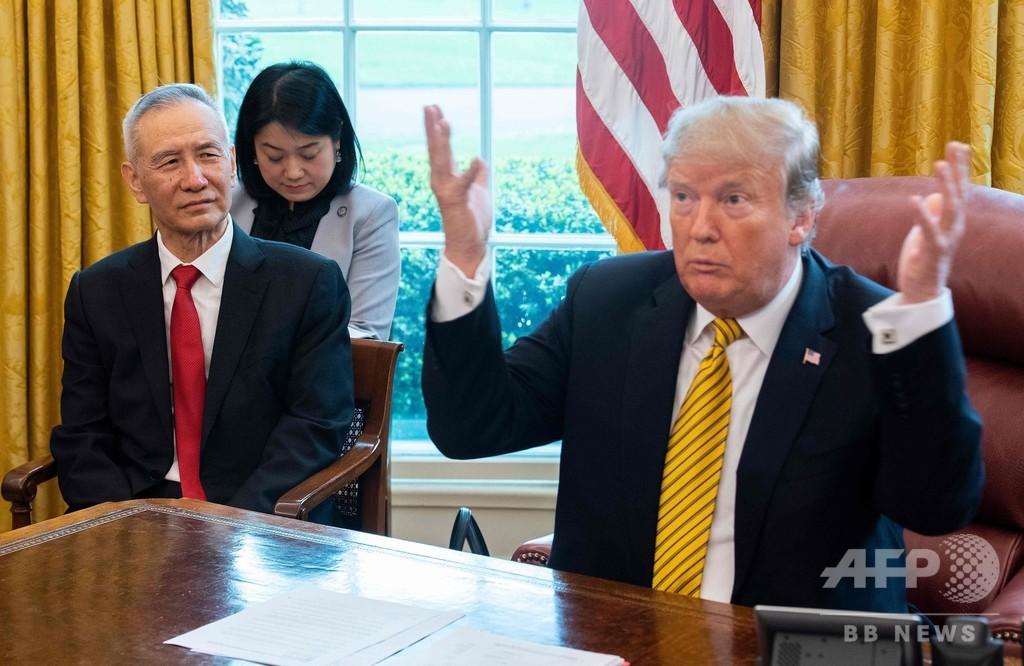 トランプ氏、さらなる対中関税引き上げ命じる 原則的に中国からの全輸入品が対象