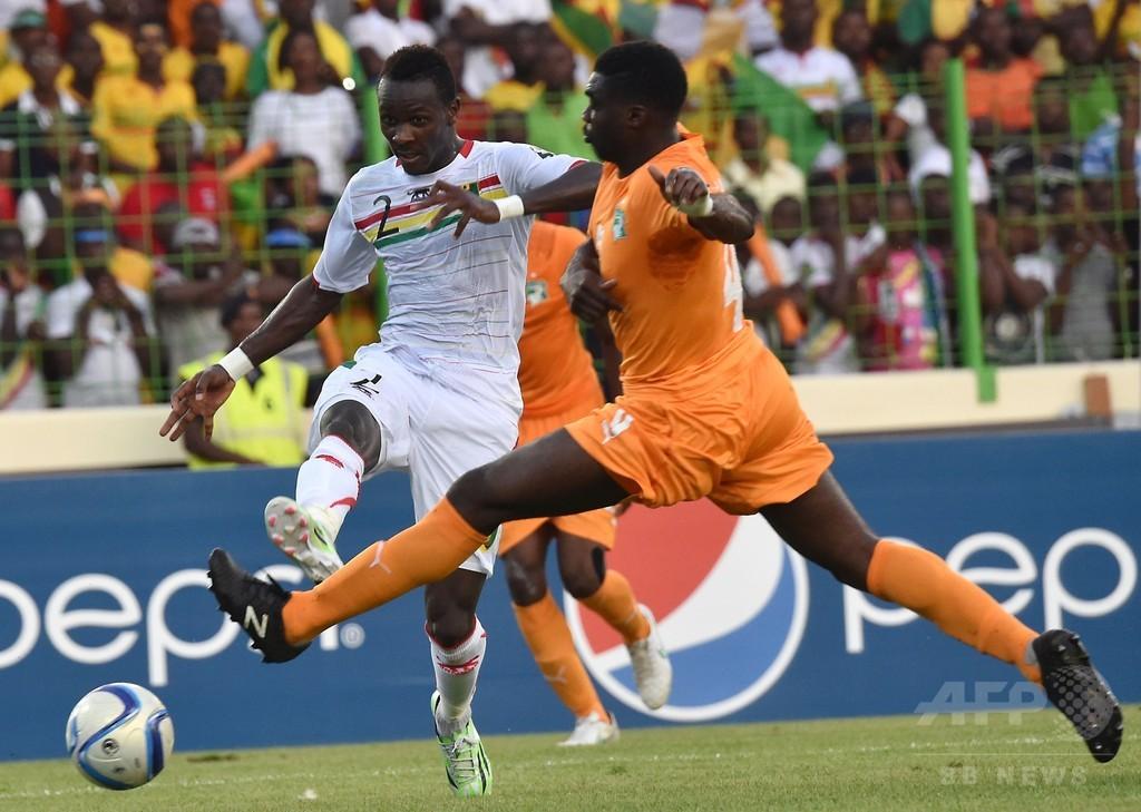 10人のコートジボワール、ドゥンビアの得点で勝ち点1拾う アフリカネイションズカップ
