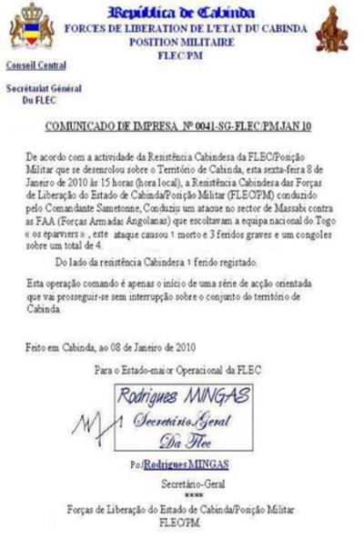 トーゴ政府、代表選手に帰国よびかける