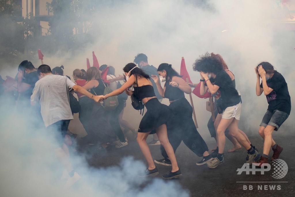 デモ制限する新法案に抗議、警察と衝突 ギリシャ