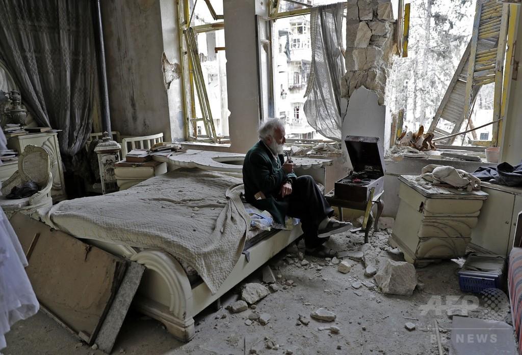 【AFP記者コラム】アレッポの廃虚に流れる音楽