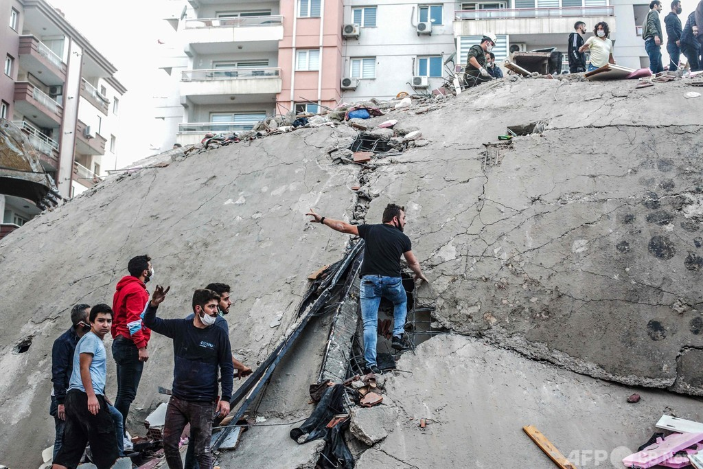 エーゲ海でM7.0の地震 トルコ・ギリシャで14人死亡
