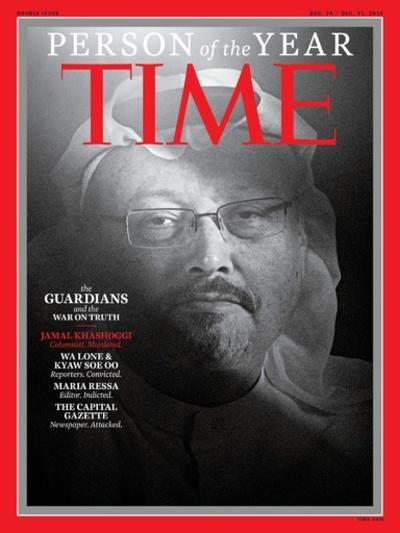 米誌タイム、「今年の人」に故カショギ氏らジャーナリスト選出