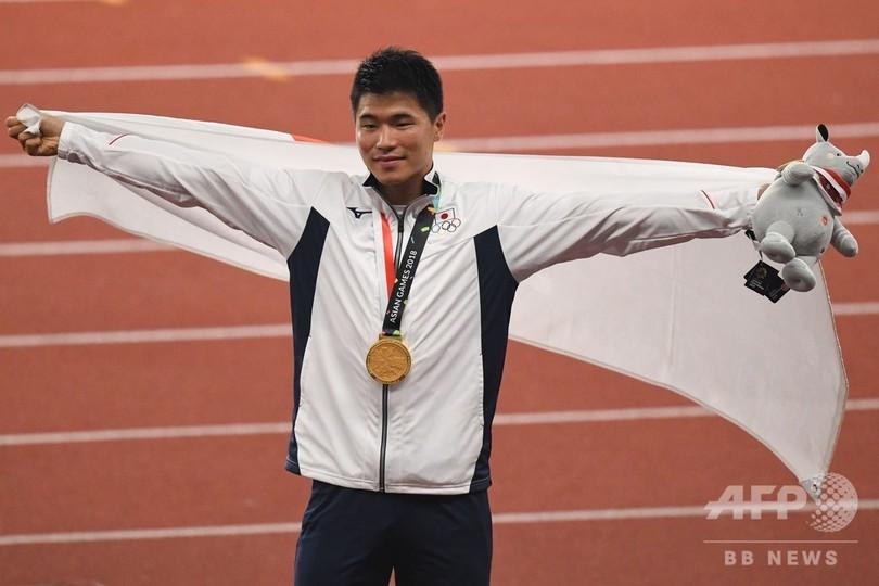 小池祐貴が大接戦制し男子200m金メダル、アジア大会