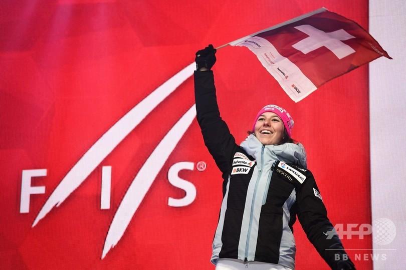 ホルドナー、女子複合で史上5人目の連覇達成 世界アルペン