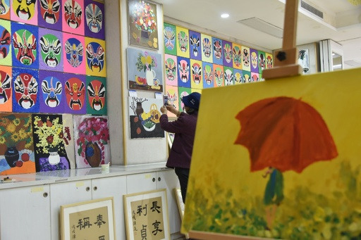 自閉症の児童の絵画展 杭州