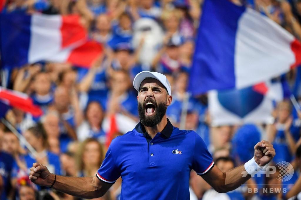 フランス、ペール起用の賭け的中 クロアチアと共にデ杯決勝へ王手