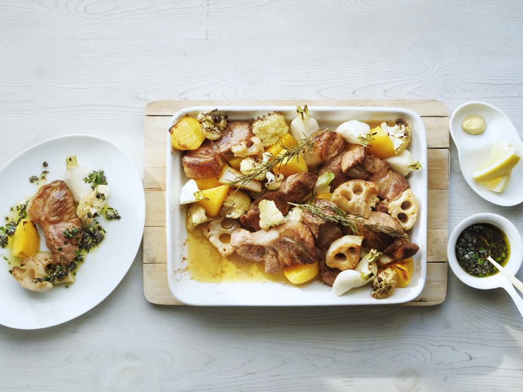 <La Cuillère de marie claire style>第71回旬野菜と豚肉のロースト