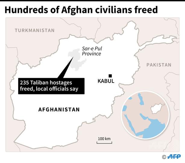 民間人虐殺のタリバン、人質235人解放 依然多数拘束の情報も