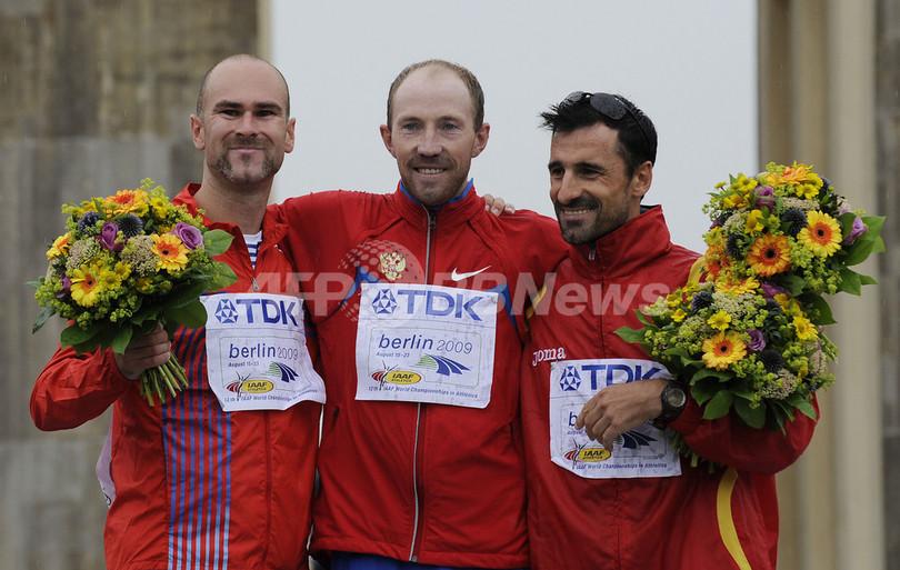 キルジャプキンが男子50キロメートル競歩で優勝、世界陸上ベルリン大会