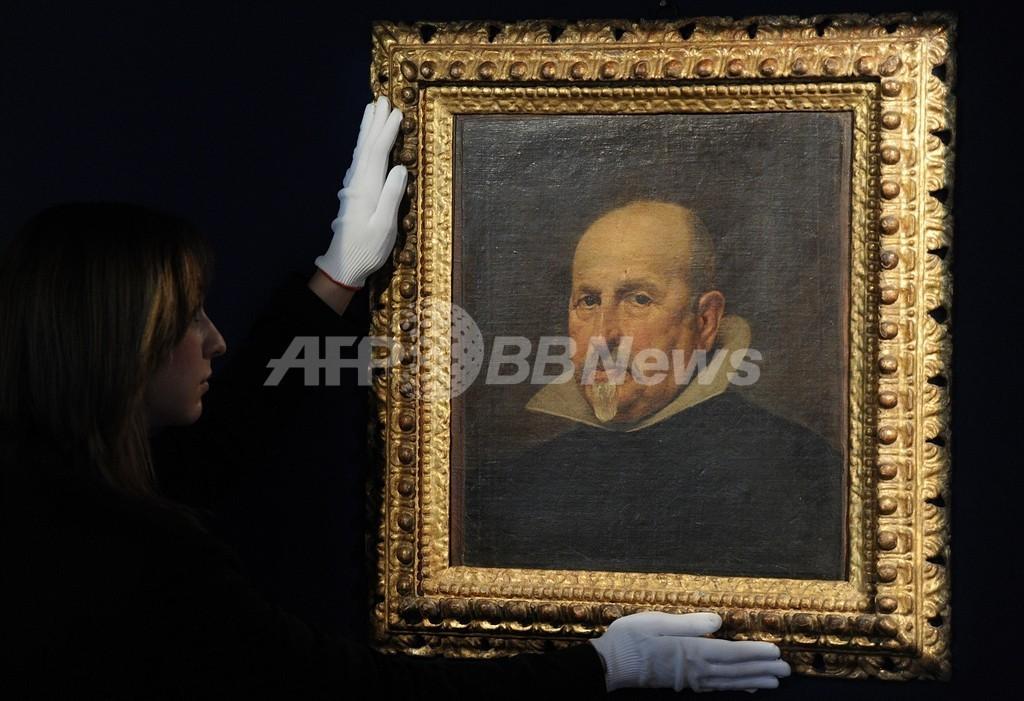 1年前に発見されたベラスケスの絵画、3.7億円で落札 英国