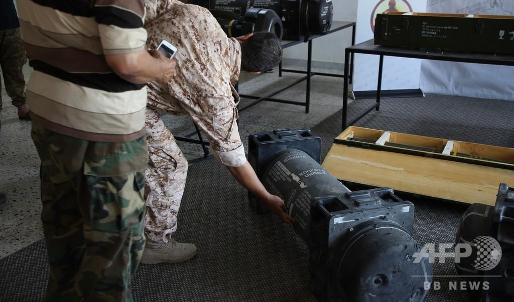 リビアの親ハフタル派基地で発見のミサイル、仏が自国所有を認める