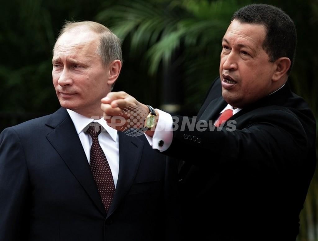 プーチン氏の「子犬外交」、ベネズエラのチャベス大統領にプレゼント