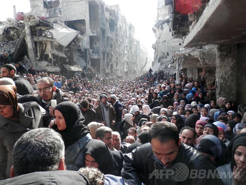 4万人餓死の危機、シリア・ヤルムーク難民キャンプ
