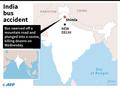 バスが渓谷に転落、44人死亡 インド北部のヒマラヤ地方