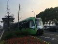「軌道」は道路上の白線だけ スマートレール電車が中国・湖南で試運転