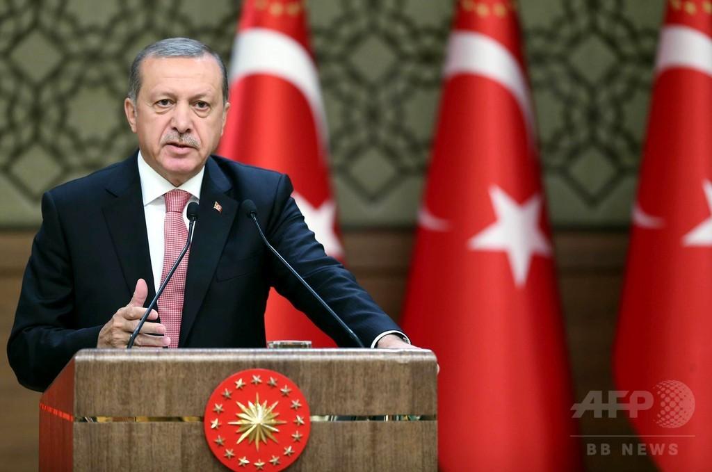 「西側諸国はテロとクーデターを支持」 トルコ大統領が強く非難