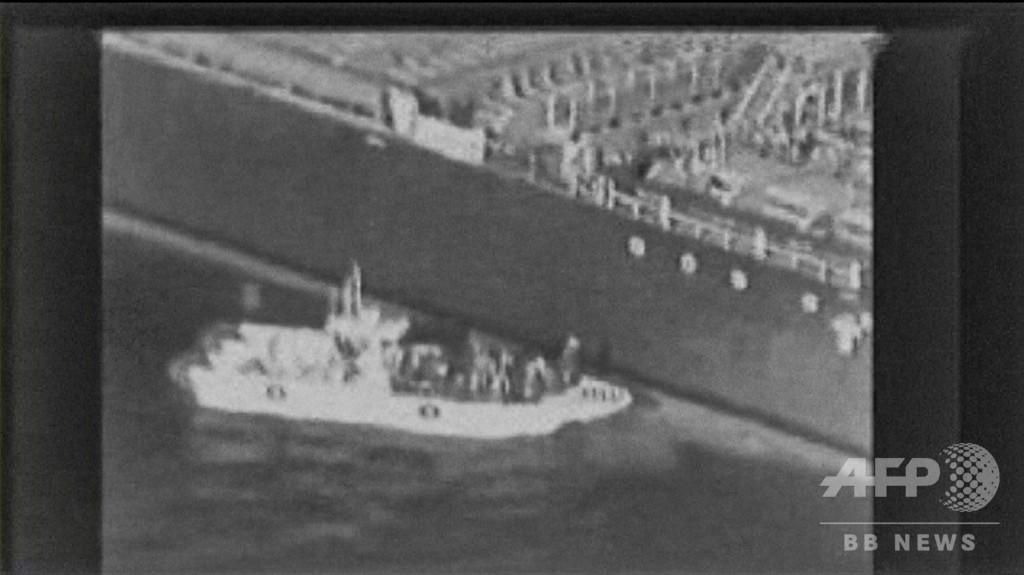 タンカー攻撃、「機雷除去するイラン軍」の映像 米が公開