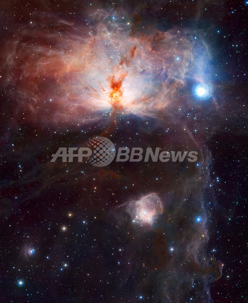 星雲NGC 2024の中心部、ESO新望遠鏡VISTA