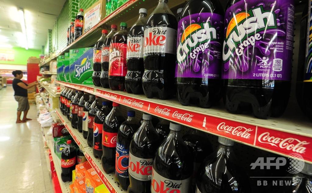 「ソーダ税」導入で清涼飲料の売り上げ急減、米都市 調査