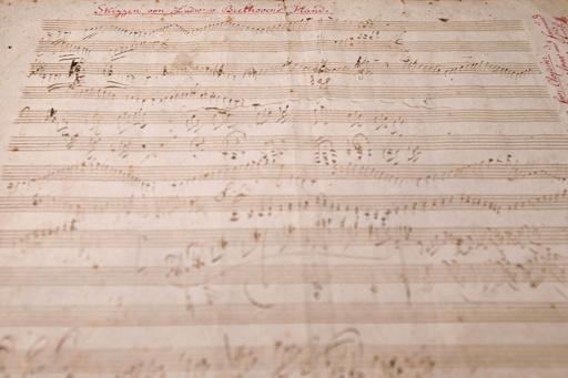 ベートーベンの直筆楽譜に2600万円、サザビーズ競売で