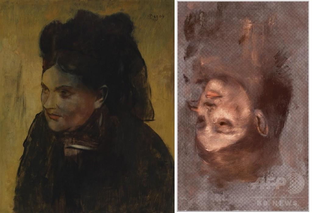 ドガの肖像画に隠された「別の女性」、豪研究で詳細判明