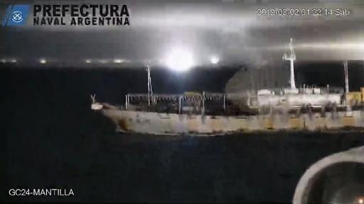 動画:違法操業の中国漁船に威嚇射撃、アルゼンチン沿岸警備隊