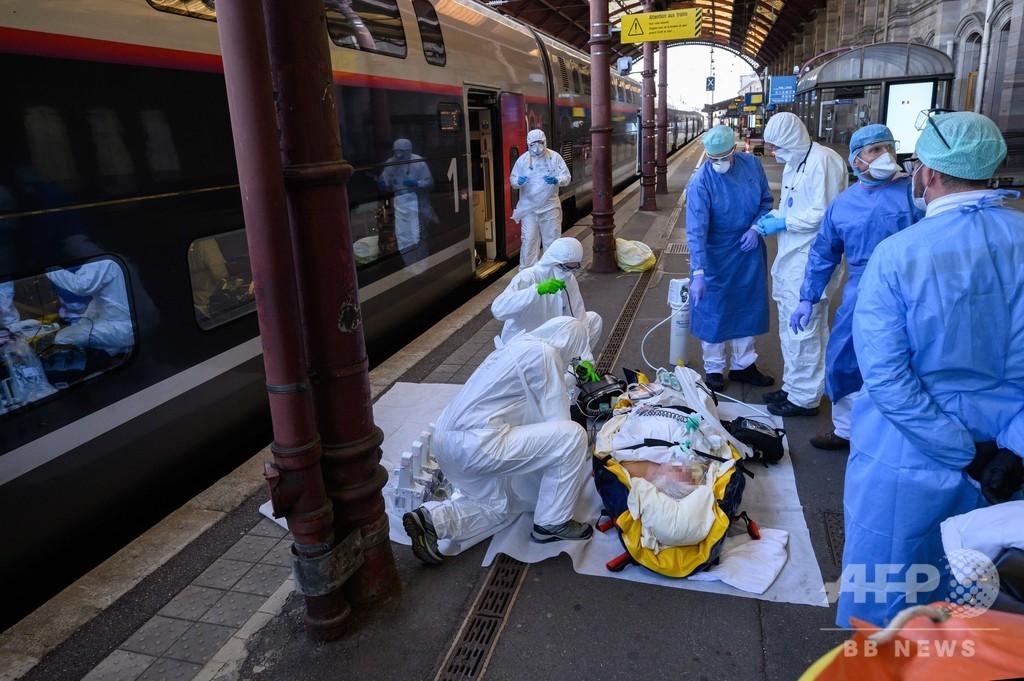 仏英、1日のコロナ死者過去最多に 588人と684人
