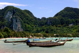 『ザ・ビーチ』の舞台となった浜辺、ボートでの進入禁止に タイ