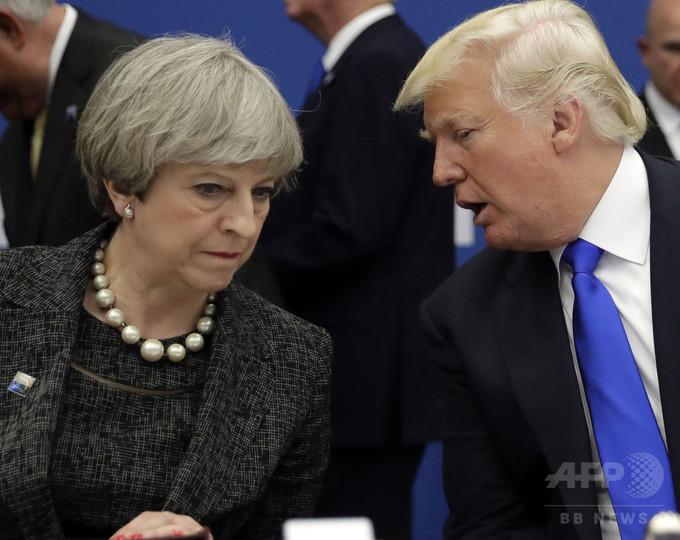 ロンドン地下鉄爆発、トランプ氏ツイートに英首相ら反発