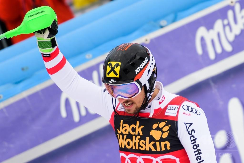 ヒルシャーが回転でも種目別優勝、アルペンスキーW杯