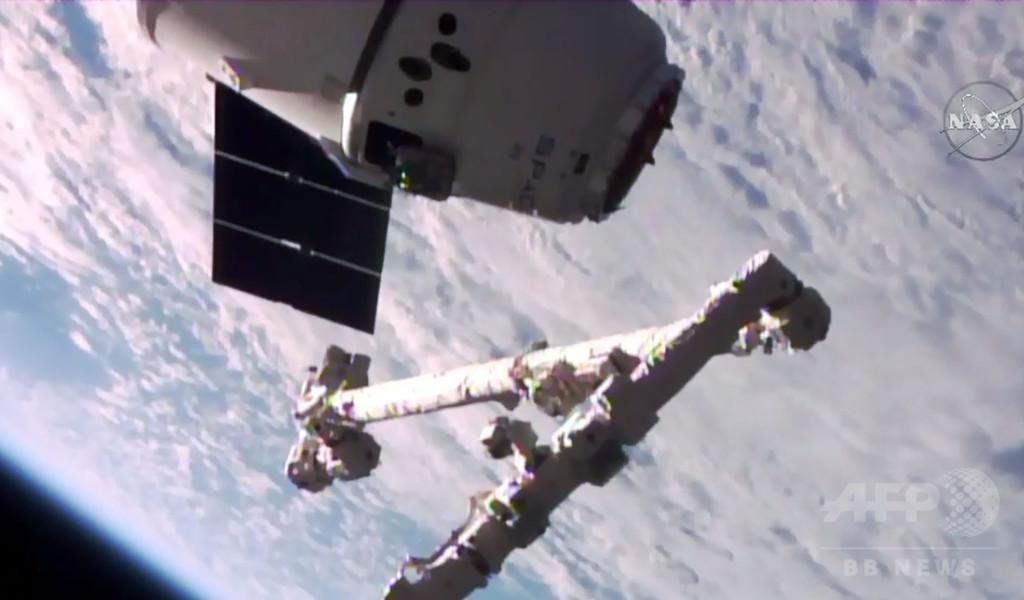 スペースX初の再利用宇宙船「ドラゴン」、ISSに到着