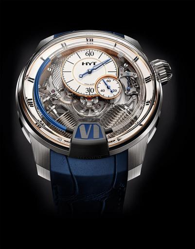 """""""液体""""で時間を示す革新的な腕時計「HYT」、クラシカルな装いの新作登場"""