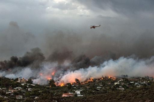 アテネ近郊の大規模火災、死者50人に