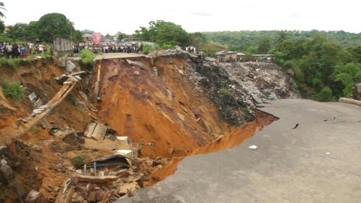 動画:コンゴの首都キンシャサで豪雨、41人死亡 現地の映像