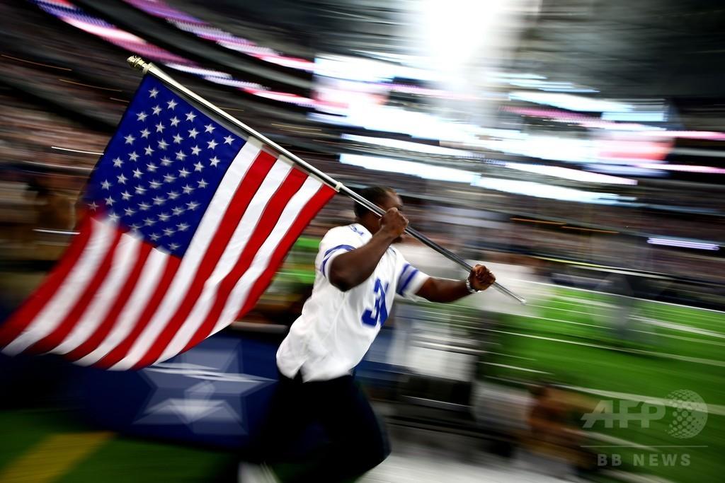 NFL選手の抗議続く、9.11追悼の雰囲気のなかで