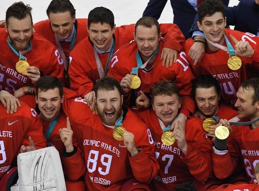 OARがアイスホッケー男子金メダル、延長戦の末にドイツ下す