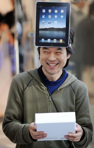アップル「iPad」、日本でも発売 千人以上が行列